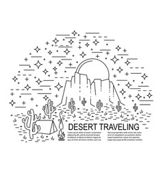 nightly desert template vector image