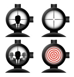 optical sight set vector image