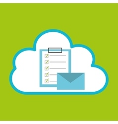 pc cloud email checklist digital web vector image