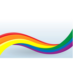rainbow flag lgbt movement modern unusual shape vector image