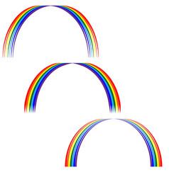Rainbow sign set 305 vector
