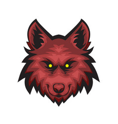 Red evil wolf vector