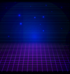 retro sci fi background vector image