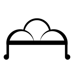 Retro sofa icon simple style vector