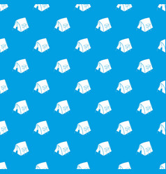 retro tent pattern seamless blue vector image