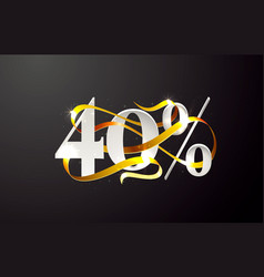 ribbon off 40 sale discount limited offer vector image