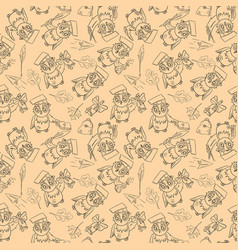 Seamless pattern outline 2 sketch on school theme vector