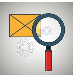 search envelope letter icon vector image