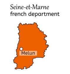 Seine-et-Marne french department map vector