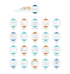 Set flat website templates navigation vector