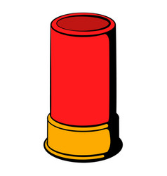 Shotgun shell icon icon cartoon vector