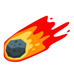 Space meteorite icon isometric style vector