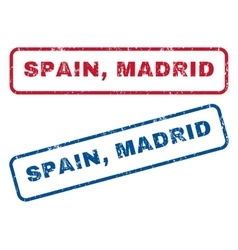 Spain Madrid Rubber Stamps vector image