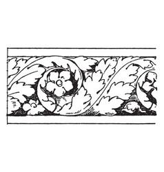 Temple jupiter torus moulding capital vintage vector