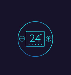Thermostat temperature control icon vector