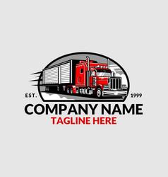 trucking company logo vector image