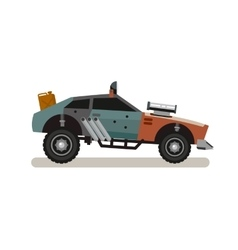 Tuned retro car in flat style vector