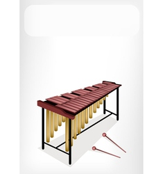 Two Retro Marimba with A White Banner vector image