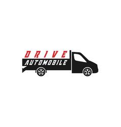 vehicle automobile logo design for car service vector image