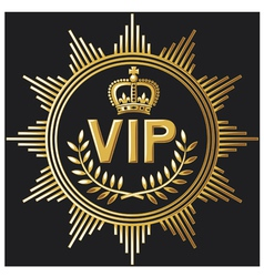 VIP design - very important person sign vector image