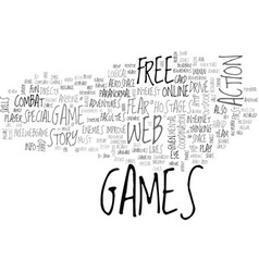 Web games review fear pc game text word cloud vector
