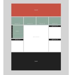 Website layout vector