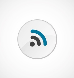 WiFi icon 2 colored vector