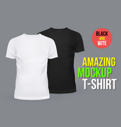 Blank or empty t-shirts for men and women vector