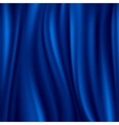 Blue silk satin material wavy luxury vector image