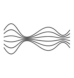 equalizer music radio icon simple black style vector image vector image