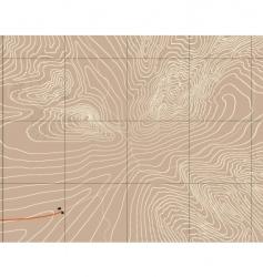 mountain contours vector image