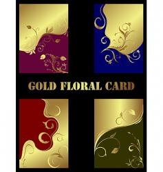 set magic floral background vector image