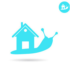 Snail with human house on the back vector image
