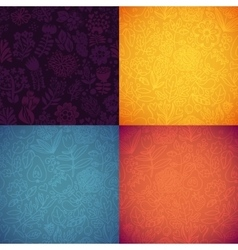 Stylish floral seamless background pack vector image