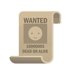 wanted dead or alive icon vintage western poster vector image