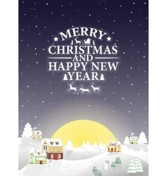 Christmas vintage greeting card on winter vector image