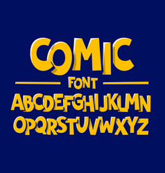 comics style font vector image vector image