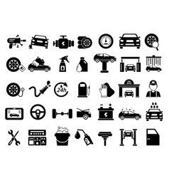 different details of automobile car services vector image