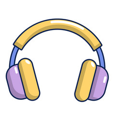 headphones icon cartoon style vector image vector image