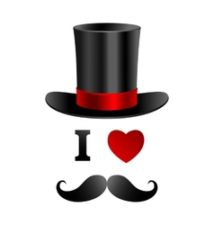 I love gentleman card vector image vector image