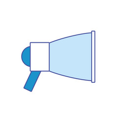 isolated megaphone design vector image