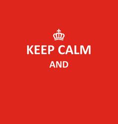 keep calm banner vector image