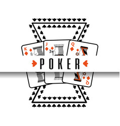 poker poster casino gamble risk cards vector image