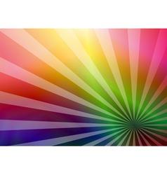 Rainbow business card vector