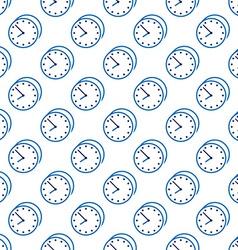 Stylish clock seamless pattern vector image vector image