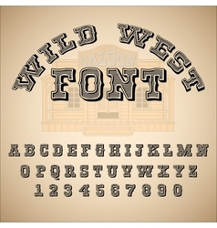 Vintage font ABC alphabet vector image