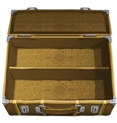Classic brown empty suitcase for travel vector image vector image