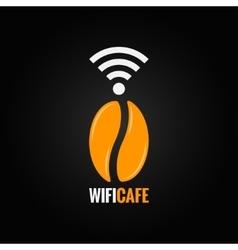 coffee bean design background vector image vector image