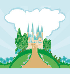 magic fairytale princess castle vector image