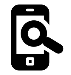 Mobile phone search icon vector image vector image
